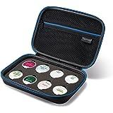 Supremery Thermomix chip de almacenamiento titular de Casos Caso con bolsillo de malla, cremallera y correa de transporte - resistentes en Azul / Negro Agua