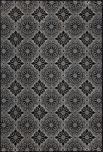 Feizy Azeri Area Rug, 2 10 x 7 10 , Black Ecru