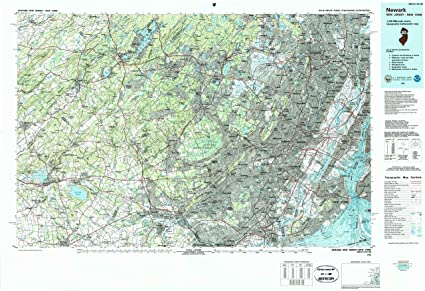 Surprising Amazon Com Yellowmaps Newark Nj Topo Map 1 100000 Scale Download Free Architecture Designs Scobabritishbridgeorg