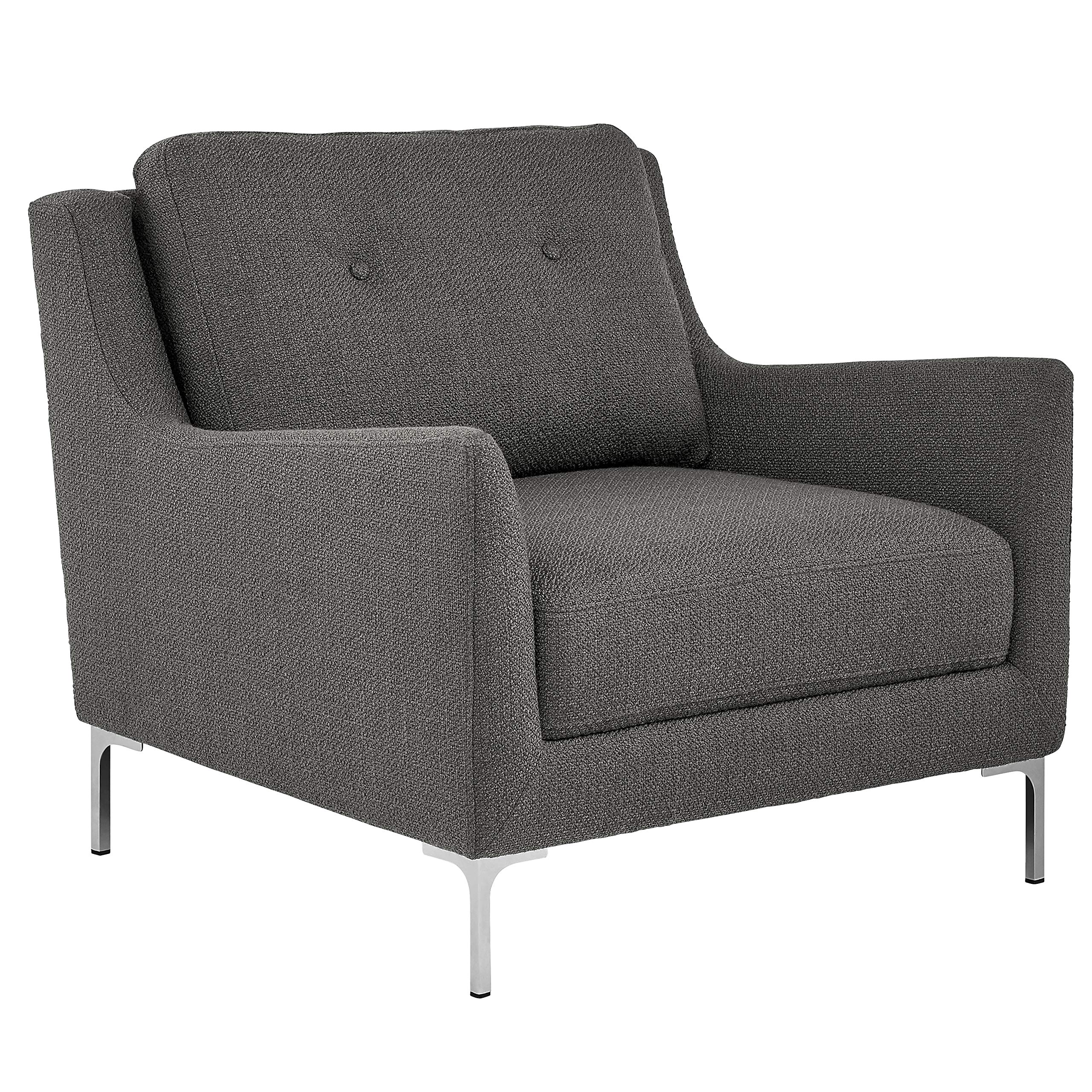 Rivet Abel Modern Contemporary Accent Chair, 32''W, Charcoal by Rivet