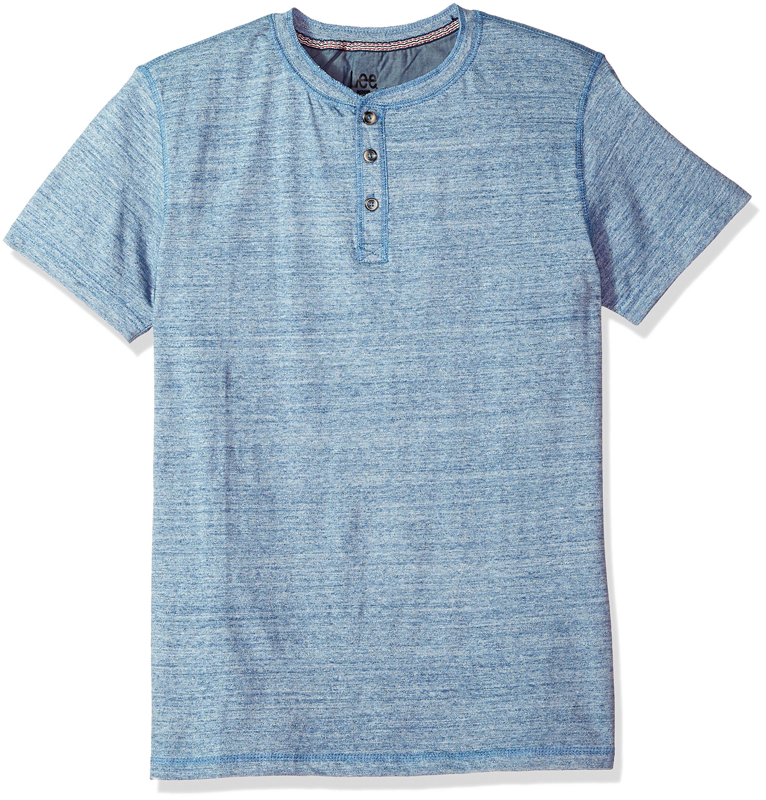 LEE Men's Short Sleeve Henley Tee, Limoges, X-Large
