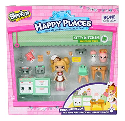 Amazon Com Shopkins Happy Places Kitty Kitchen Welcome Pack