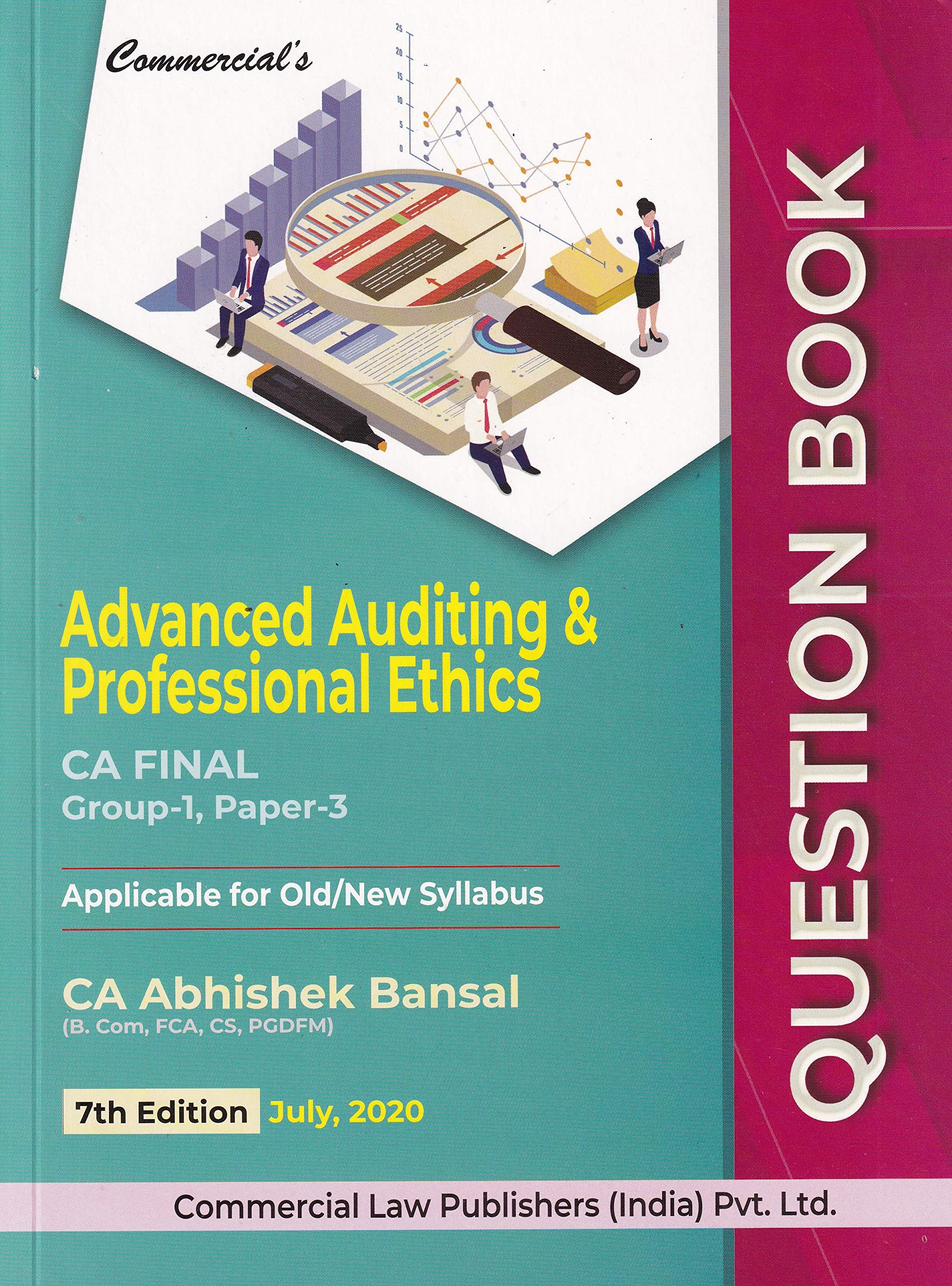 Commercial's Advanced Auditing & Professional Ethics CA Final Group-1, Paper-3 – 7/e, july 2020