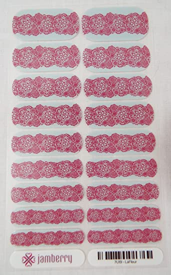 Amazon.com: jamberry Lafleur Nail Wrap (Full Sheet) 7u19 ...