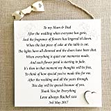 Parents Thank You Wedding Gift Personalised Mum Dad Plaque Bride Groom ...