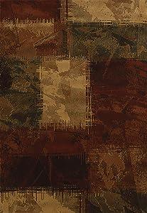 United Weavers of America Genesis Collection Baritone Heavyweight Heat Set Olefin Rug, 7-Feet 10-Inch by 10-Feet 6-Inch, Hunter