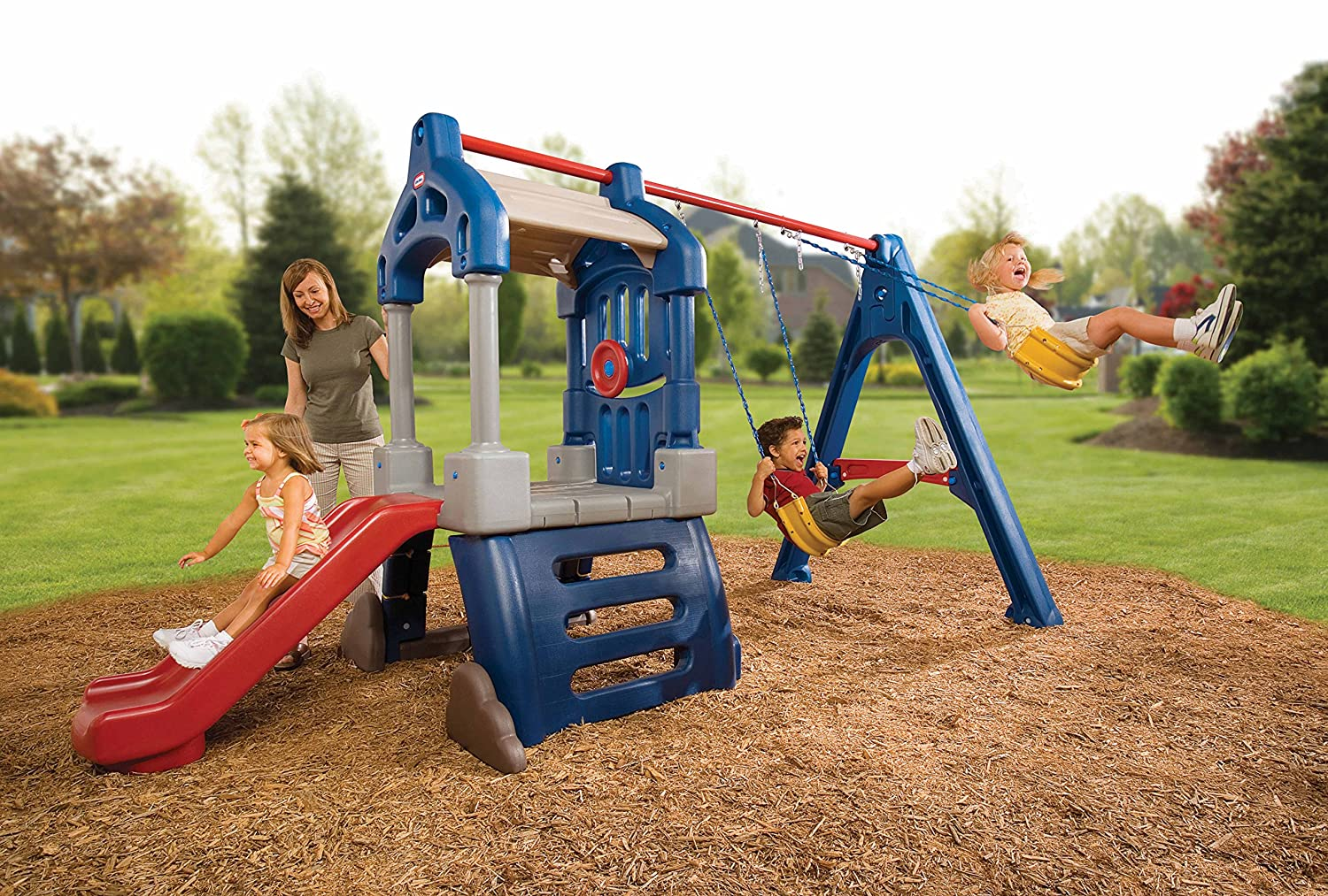 amazon com little tikes clubhouse swing set toys u0026 games