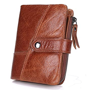 Bestfire mens leather wallet bifold vintage purse business credit bestfire mens leather wallet bifold vintage purse business credit card holder with idphoto window reheart Choice Image