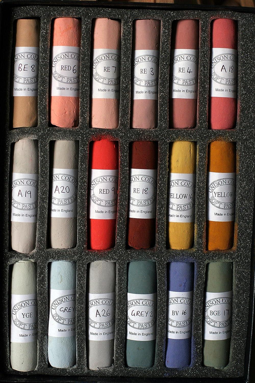 Unison Colour Confezione da 18 pastelli morbidi, realizzati a mano Unison Colour Ltd UC-110