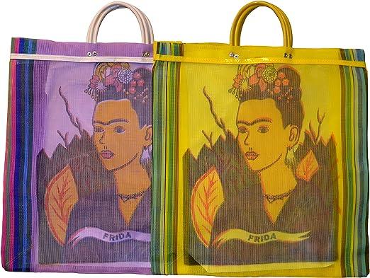 Varios Frida Tote bolsa de mercado reciclado 18 SQ (México Folk ...