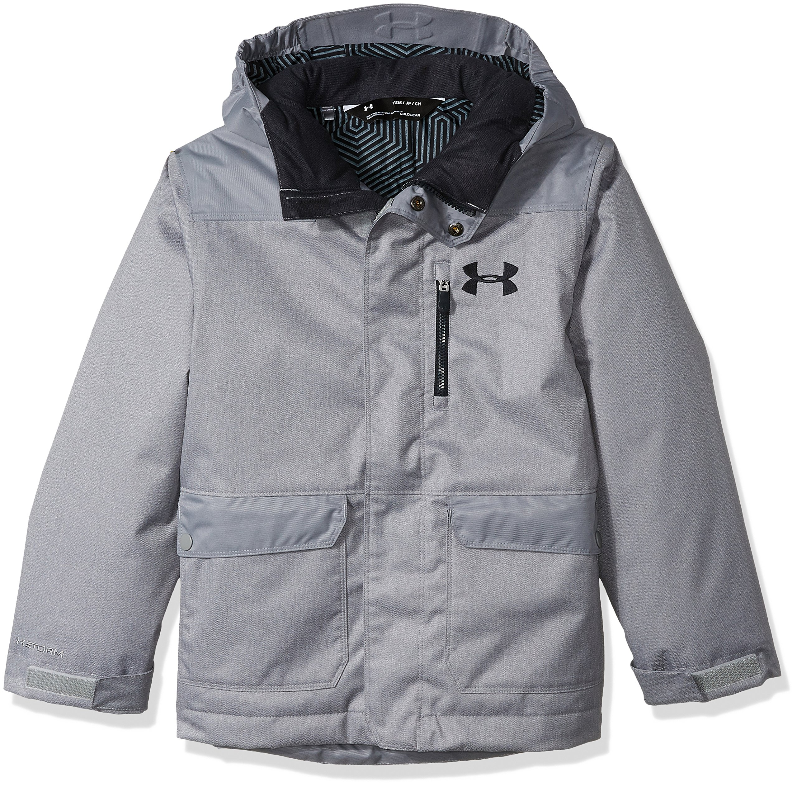 Under Armour Boys' ColdGear Reactor Yonders Parka, Steel/Anthracite, Youth Small by Under Armour