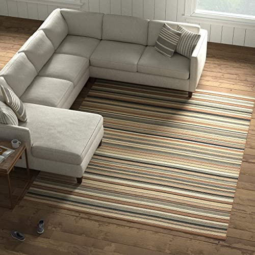 Amazon Brand Stone Beam Contemporary Striped Area Rug