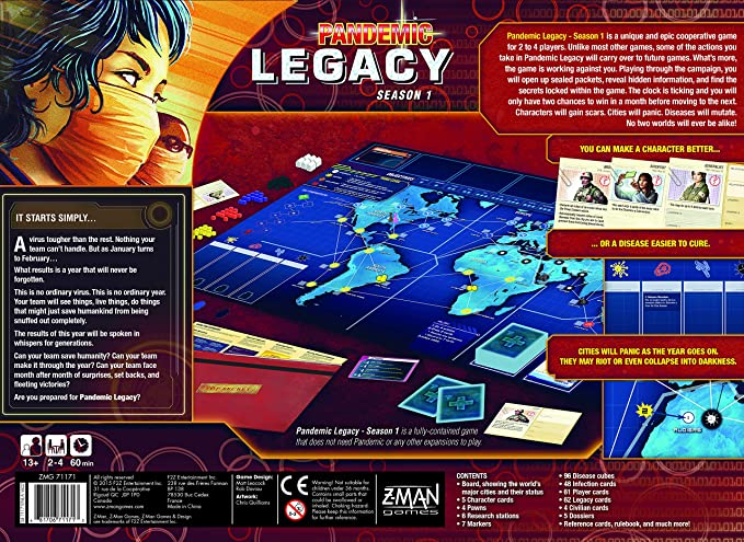 Z-Man Games Pandemic Legacy Red Board Game: Amazon.es: Juguetes y juegos