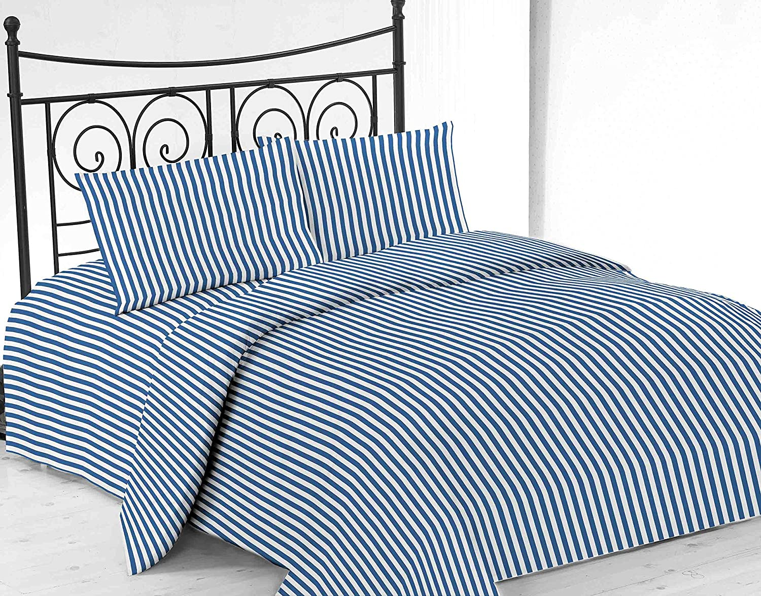 United Linens printed striped 4 piece sheet sets