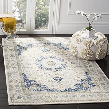 Safavieh Evoke Collection EVK220C Vintage Oriental Ivory And Blue Area Rug 8 X 10