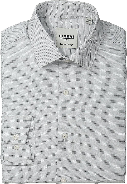 Ben Sherman - Camisa de vestir ajustada para hombre - Blanco - 39 cm Cuello 81 cm- 84 cm Manga: Amazon.es: Ropa y accesorios