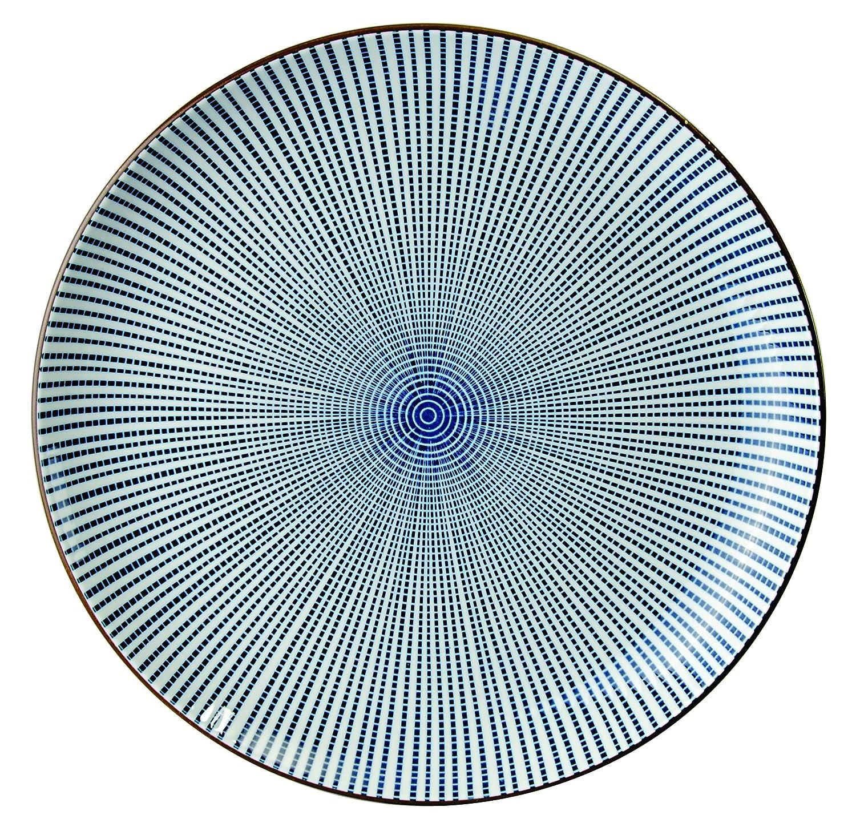 Assiette japonaise Sendan Tokusa en porcelaine, 18 cm