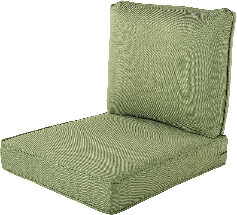 Quality Outdoor Living 29-SG23SB Chair Cushion, 23 x 26, Sage Green