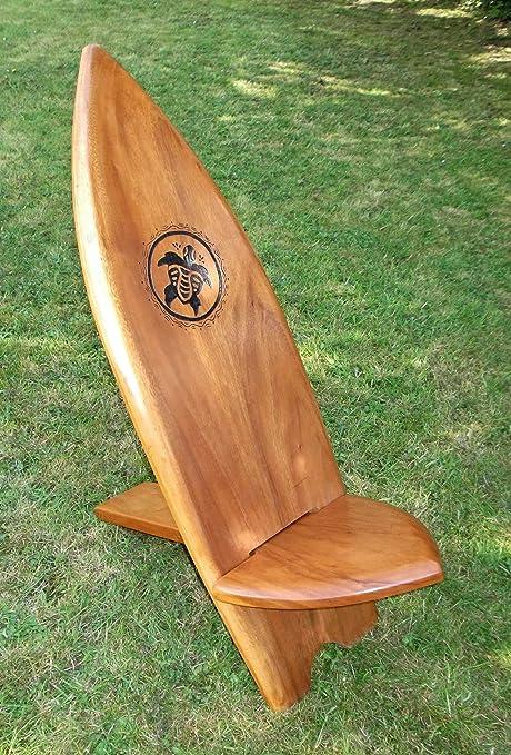 Plantation Designs Silla de Tabla de Surf con Tallado a Mano Tortuga Bridesmaid Plegable Silla Hecho