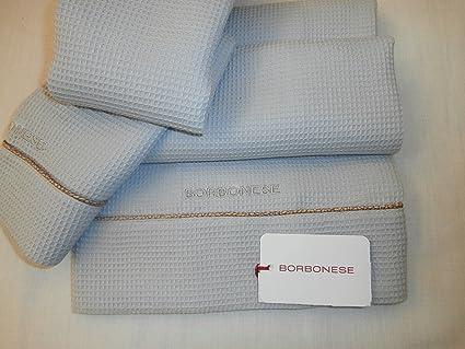 """Set 2 piezas Toallas de algodón Nido de abeja Borbonese """"voiage Var 900"""