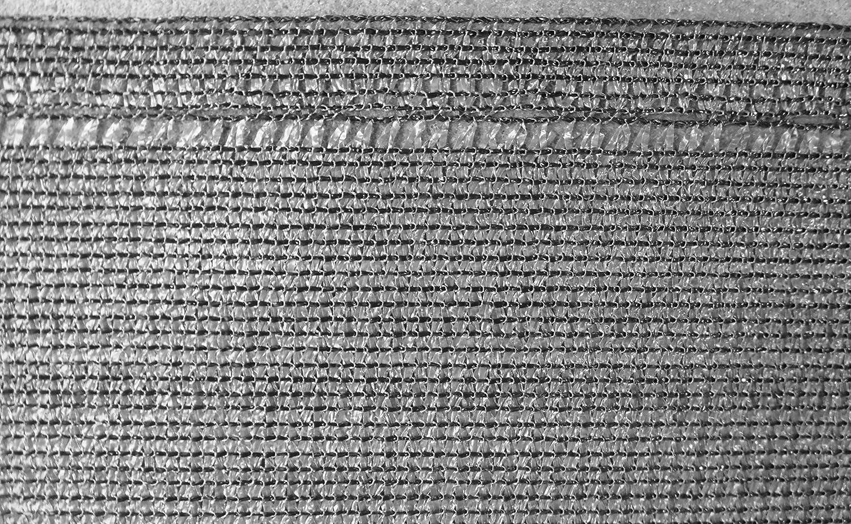EXCOLO Ger/üstnetz Bauzaunnetz H/öhe 2,0 m hoch als Windnetz Staubschutz Sichtschutz Plane f/ür Ger/üst und Bauzaun in Grau 10 Meter lang // 2,0 Meter hoch