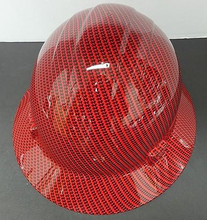 ERB Safety Americana Full Brim Hard Hat Ratchet Suspension Red