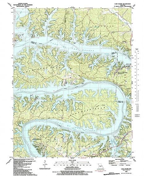 Amazon Com Yellowmaps Lake Ozark Mo Topo Map 1 24000 Scale 7 5 X