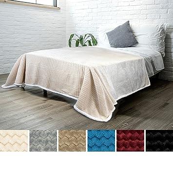 Cool Pavilia Deluxe Sherpa Fleece Chevron Blanket For Twin Bed Couch Sofa Super Soft Plush Fuzzy Microfiber Throw Reversible Comfy Wavy Textured Creativecarmelina Interior Chair Design Creativecarmelinacom