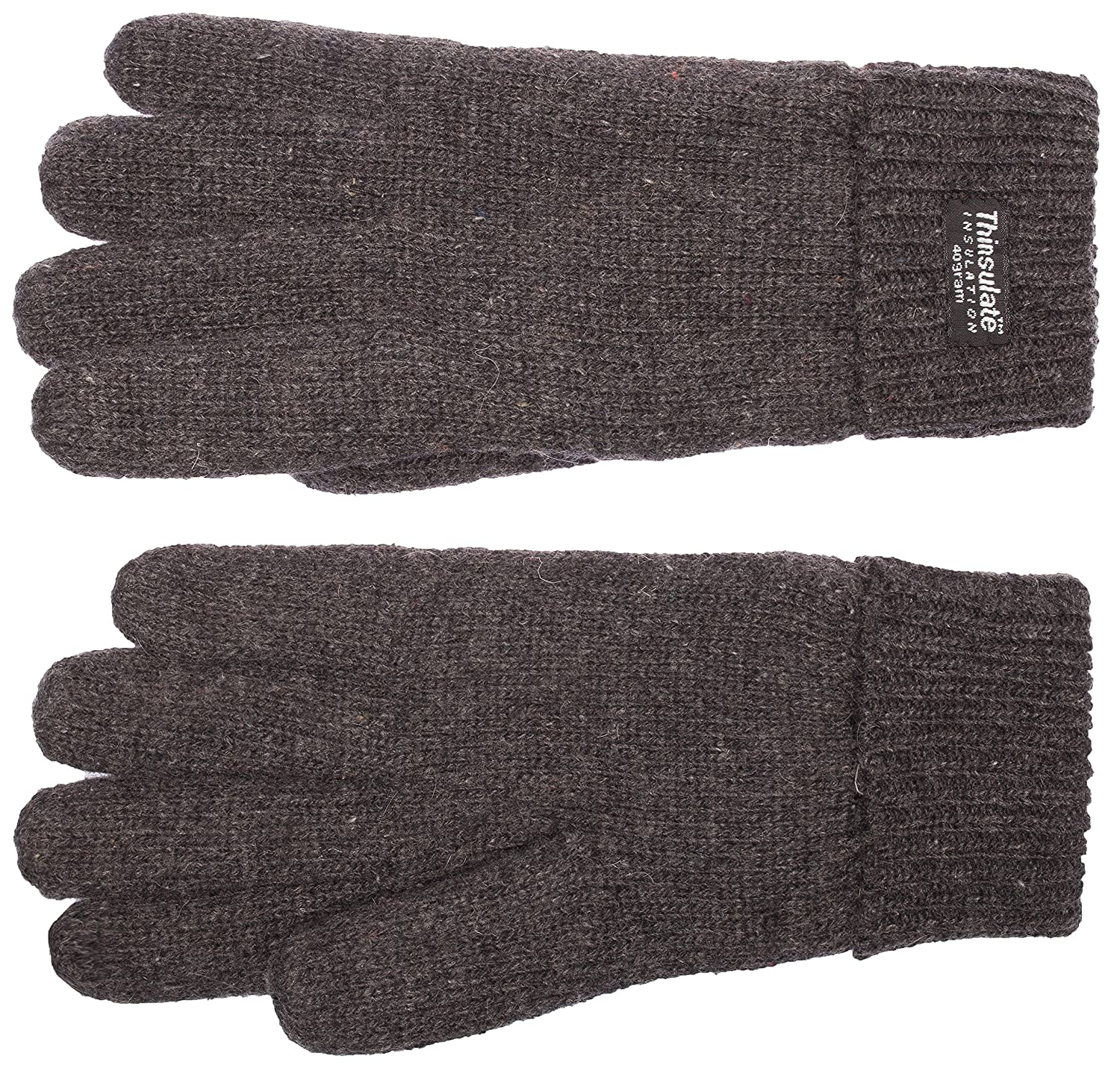 navy L warm 100/% wool EEM Mens knitted glove LASSE with Thinsulate thermal lining