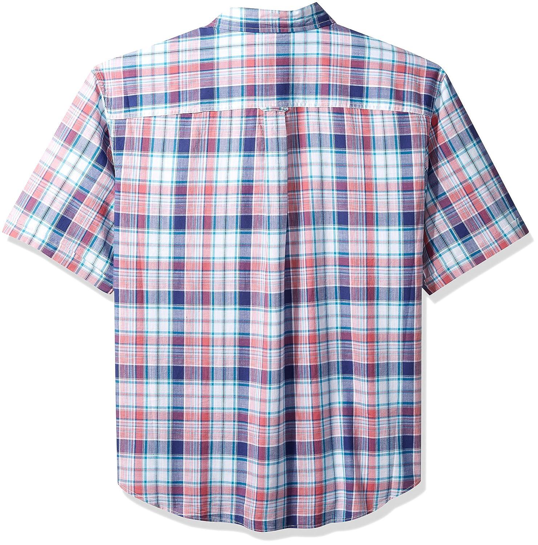 070de584 IZOD Men's Big Saltwater Chambray Short Sleeve Shirt, Rapture Rose, XL-Tall  at Amazon Men's Clothing store: