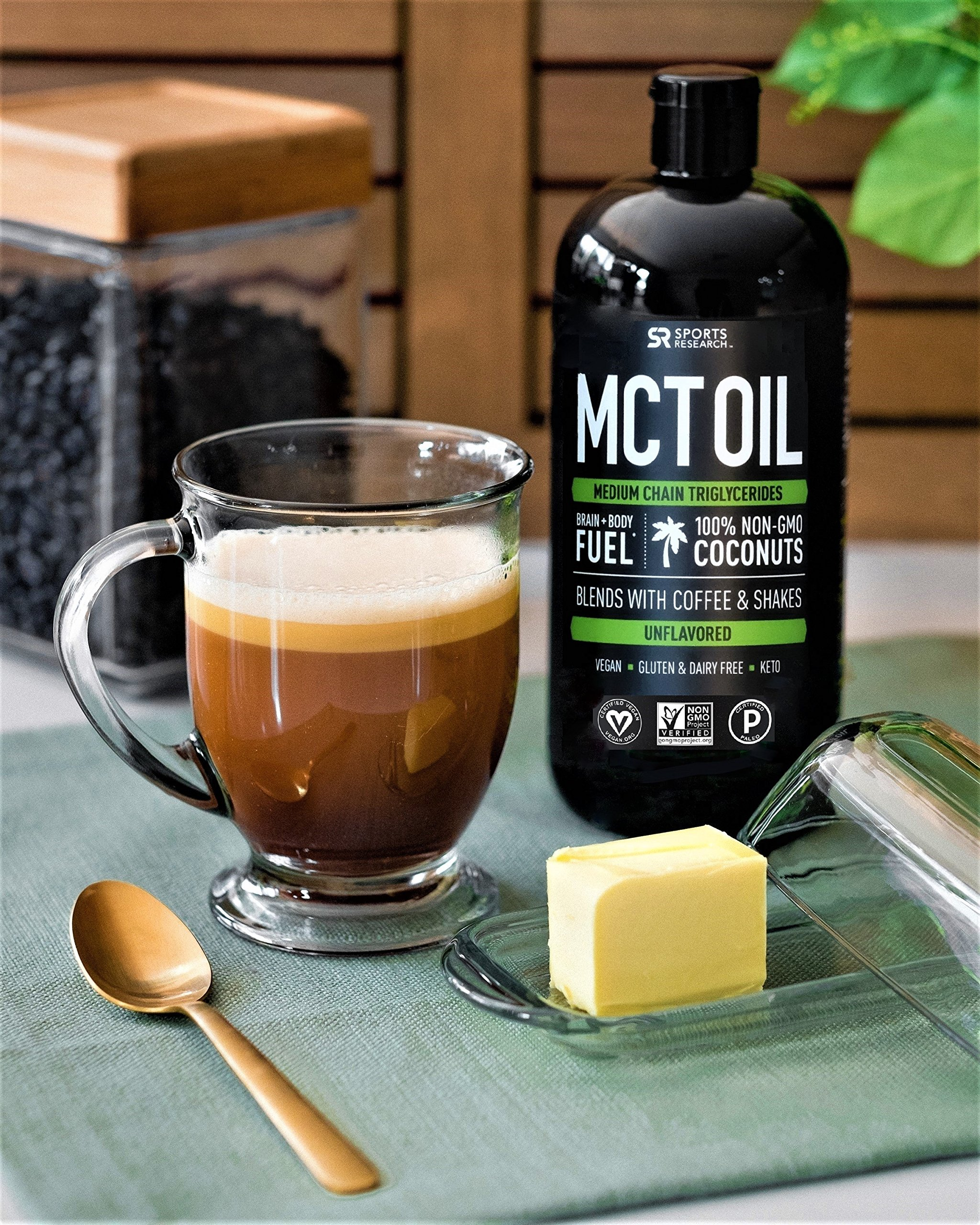 Premium MCT Oil derived only from Coconut Oil - 32oz BPA free bottle    Ketogenic and Paleo diet approved ~ Non-GMO Project Verified