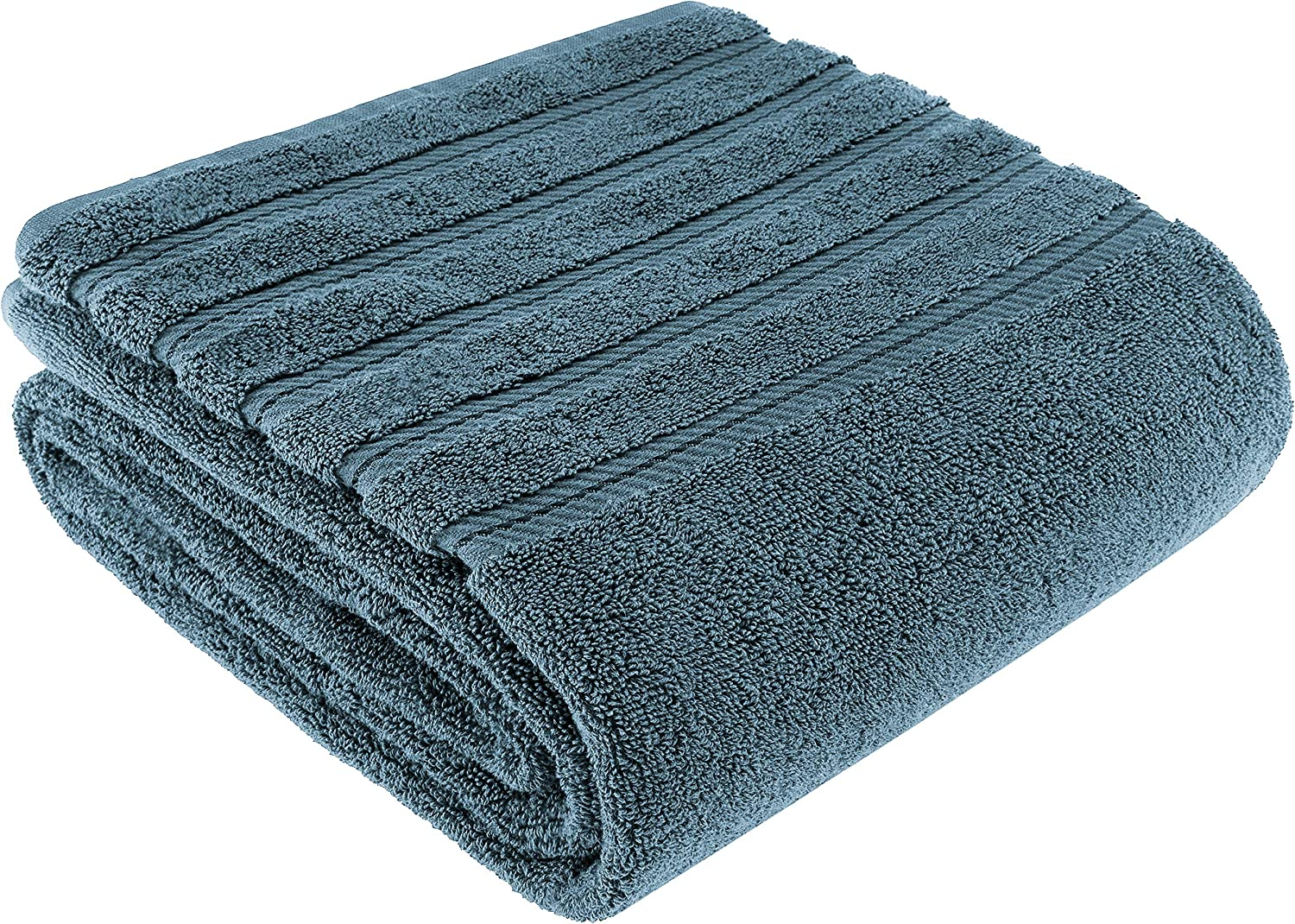 American Soft Linen Premium, Luxury Hotel & Spa Quality, 35x70 Extra Large Jumbo Size Bath Towel, Bath Sheet Cotton for Maximum Softness and Absorbency, [Worth $34.95] Colonial Blue
