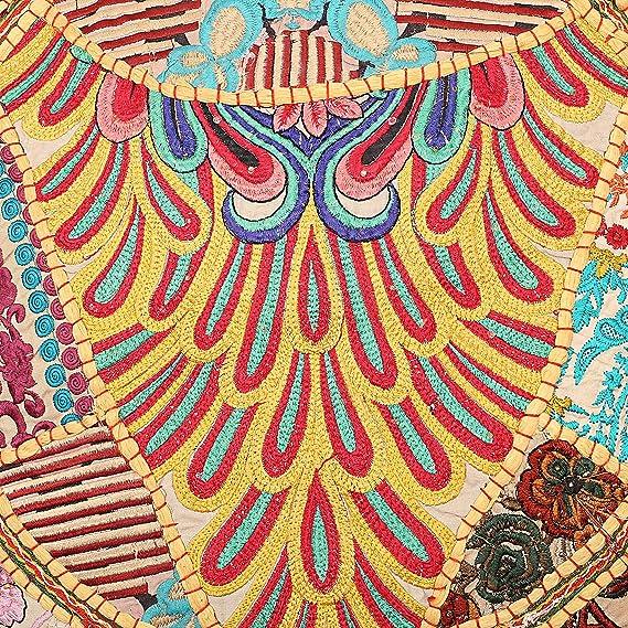 Amazon.com: Vintage bordado Patchwork cojines de piso ...