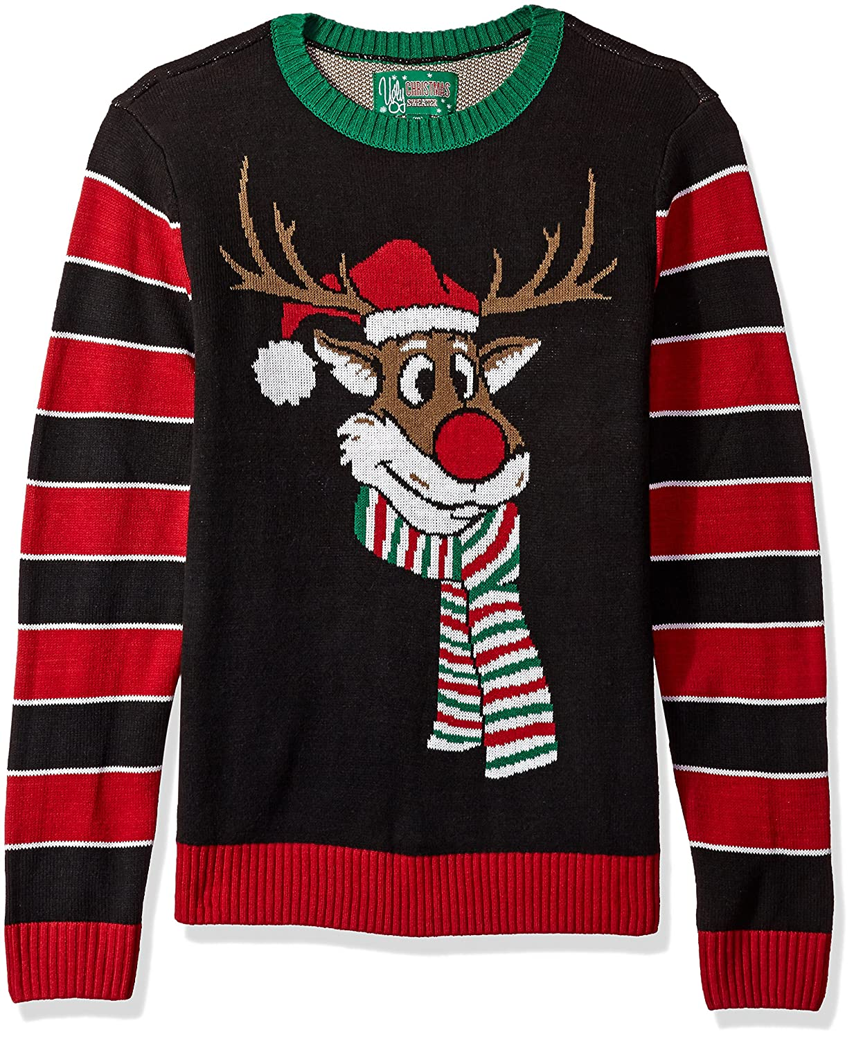 Ugly Christmas Sweater Company Men's Reindeer Poopermints Sweater The Ugly Christmas Sweater Kit SYP7-1830BAMZ