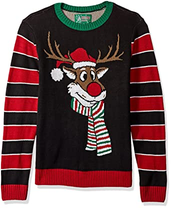 1326cd31a5b3 Ugly Christmas Sweater Company Men s Reindeer Poopermints Sweater at ...