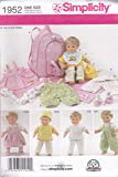 Simplicity Doll Clothes Sewing Pattern 1952, Size OS (One Size)