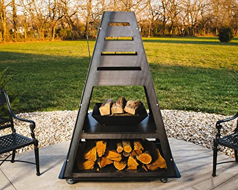 Amazon.com: Blaze Monolito Chimenea Fire Tower metal ...
