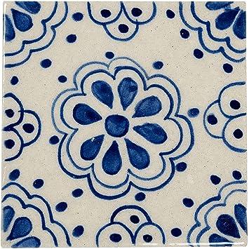 Dekofliesen f/ür die Wand im Badezimmer K/üche oder als Untersetzer f/ür Gl/äser Marokkanische Fliesen Wandfliesen 10cm Gro/ß handbemalt 2 Orientalische Handgemachte Fliese aus Keramik