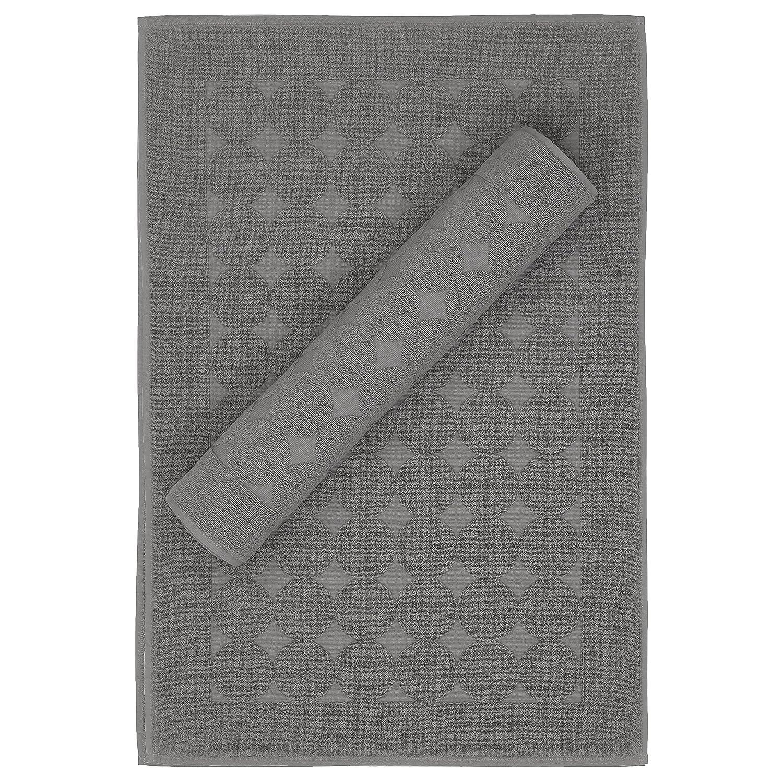 Linum Home Textiles SN96-2CD Bath Mat, Dark Gray