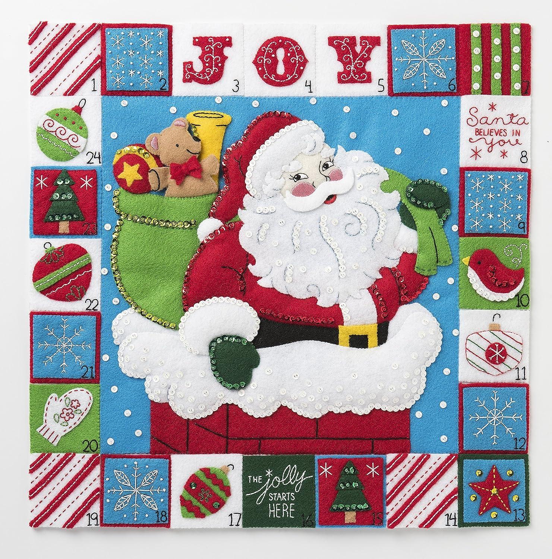 Bucilla 86883 Merry Moments Advent Calendar Kit, 15.5', Multicolor 15.5 Plaid Enterprises Inc.