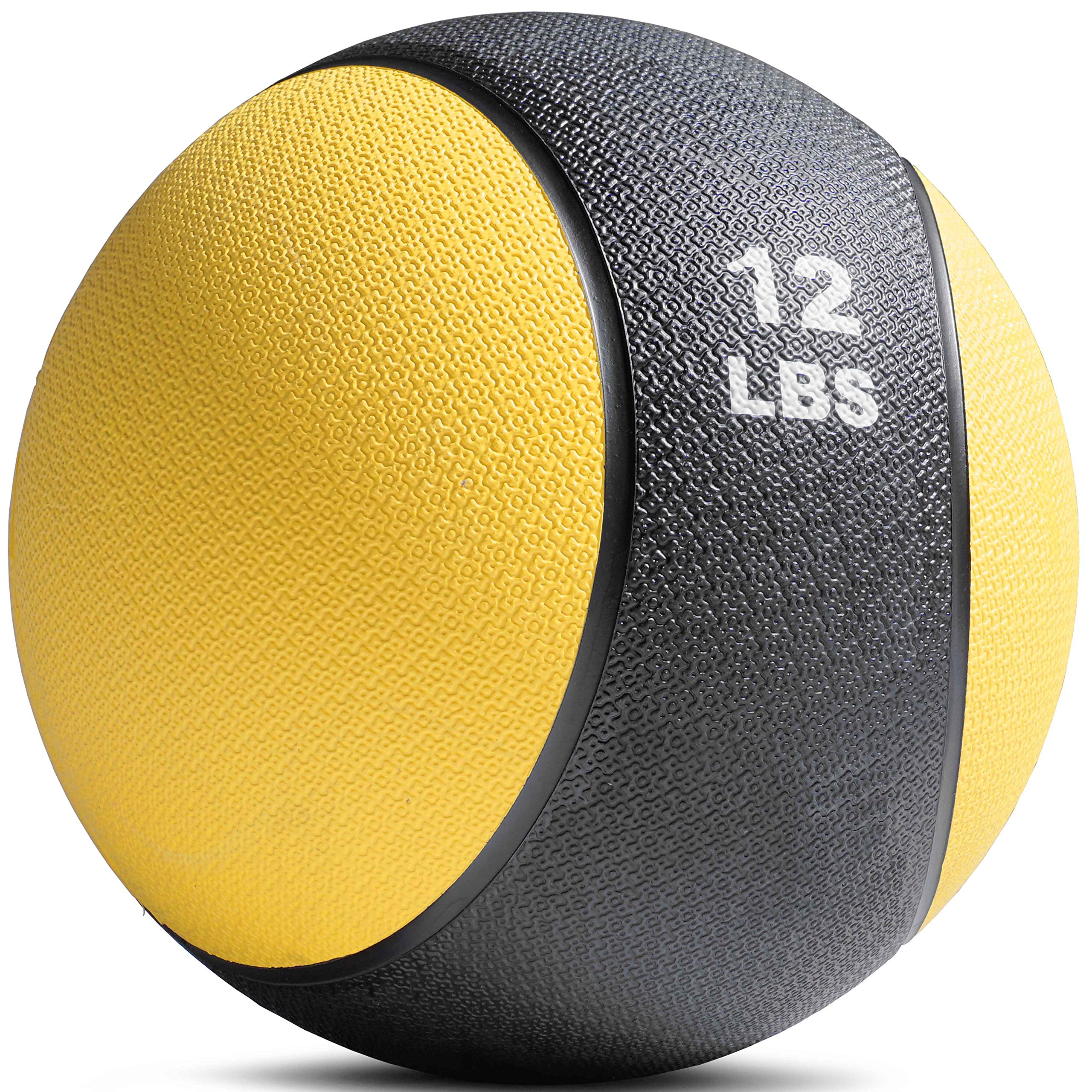 TITAN FITNESS Weighted Medicine Ball 12LB Rubber Muscle Driver Sport Therapy WOD