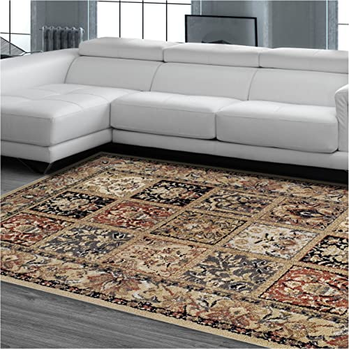 Superior Designer Hollingsworth Area Rug Collection, Vintage Distressed Persian Rug Design, 6mm Pile Height with Jute Backing, Affordable and Beautiful Rugs – 8 x 10