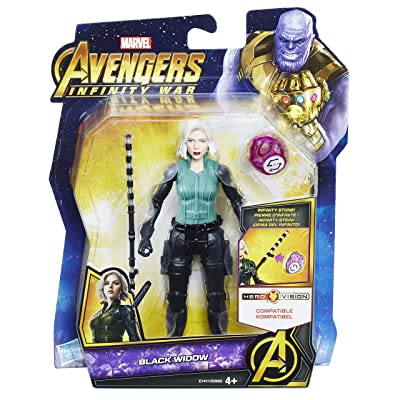 Marvel Avengers: Infinity War Black Widow with Infinity Stone: Toys & Games
