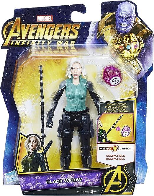 Marvel Avengers Black Widow Infinity War figurine avec Infinity Stone Hasboro