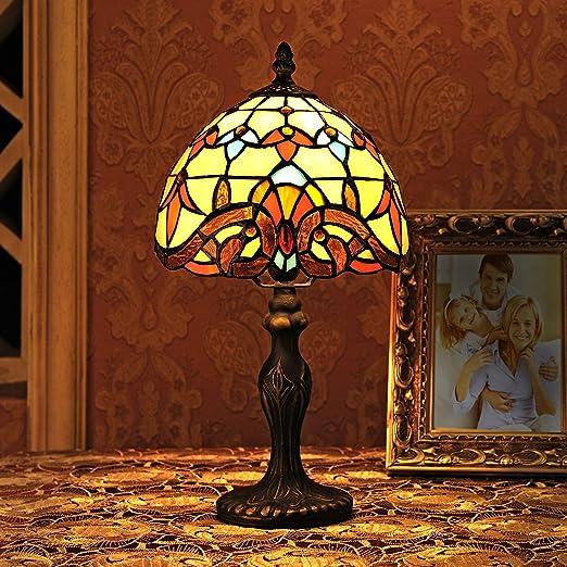 Gweat 8 pulgadas barroco europeo tiffany lámpara de mesa ...