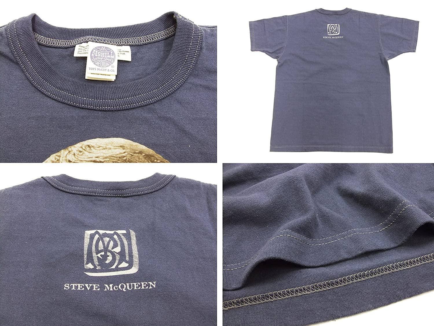 819c7c3265d8 Amazon.com: TOYS McCOY Men's Slim Fit T-Shirt Steve McQueen Graphic Short  Sleeve Tee TMC1804: Clothing