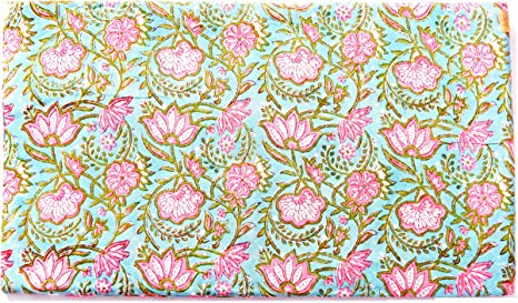 Decorative Craft Hand Block Print Cotton Voile Fabric Indian Sewing By 1 Yd
