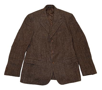 0edf79e678d0 Ralph Lauren Polo RRL Mens Brown Herringbone Wool Blazer Sportcoat ...