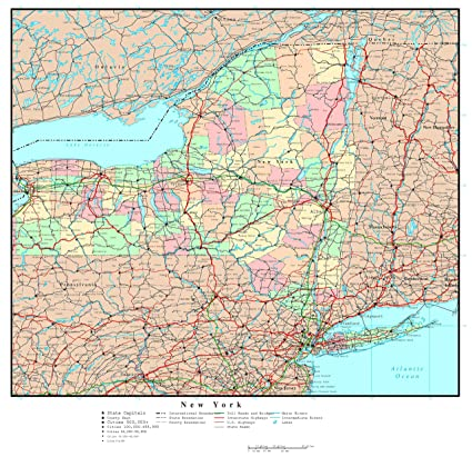 graphic about Printable Maps of New York State identify : Residence Comforts Superior Thorough Administrative map