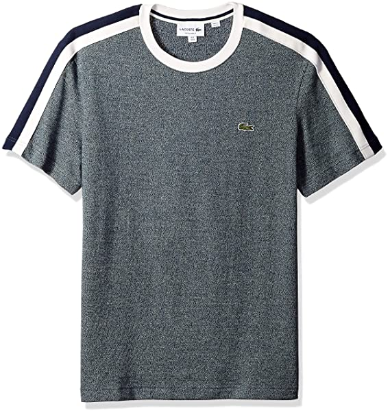 professional sale low cost best wholesaler Lacoste Men's Short Sleeve Reg Fit Faux Made in France Tee